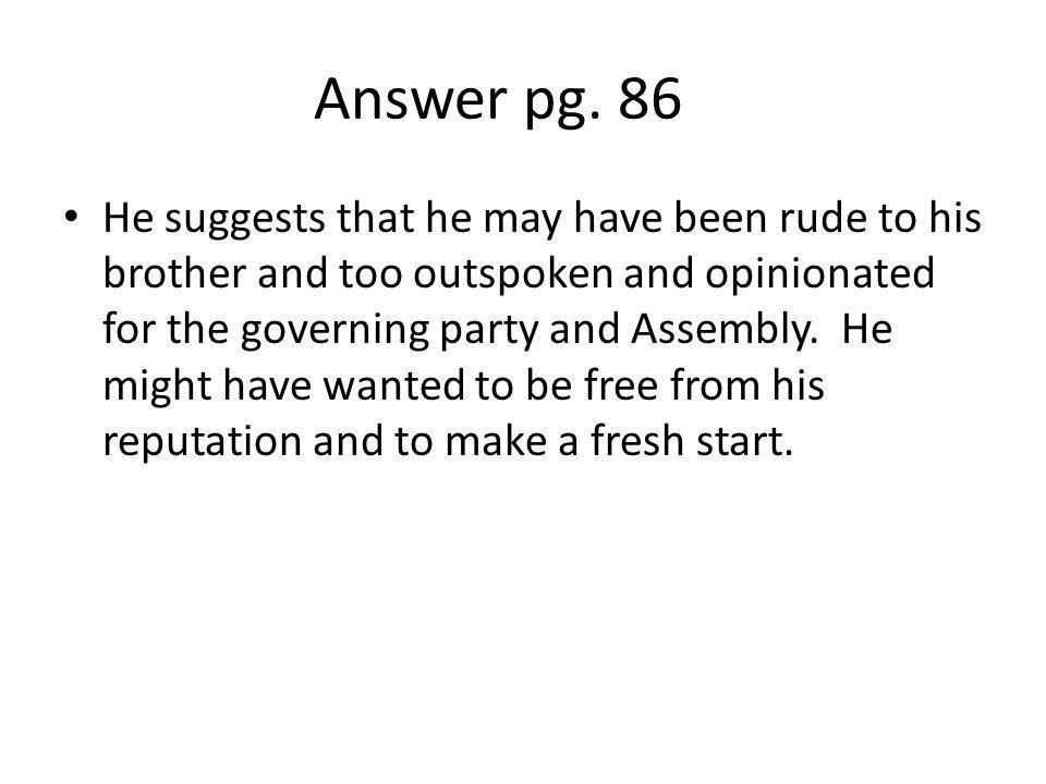 Answer pg. 86