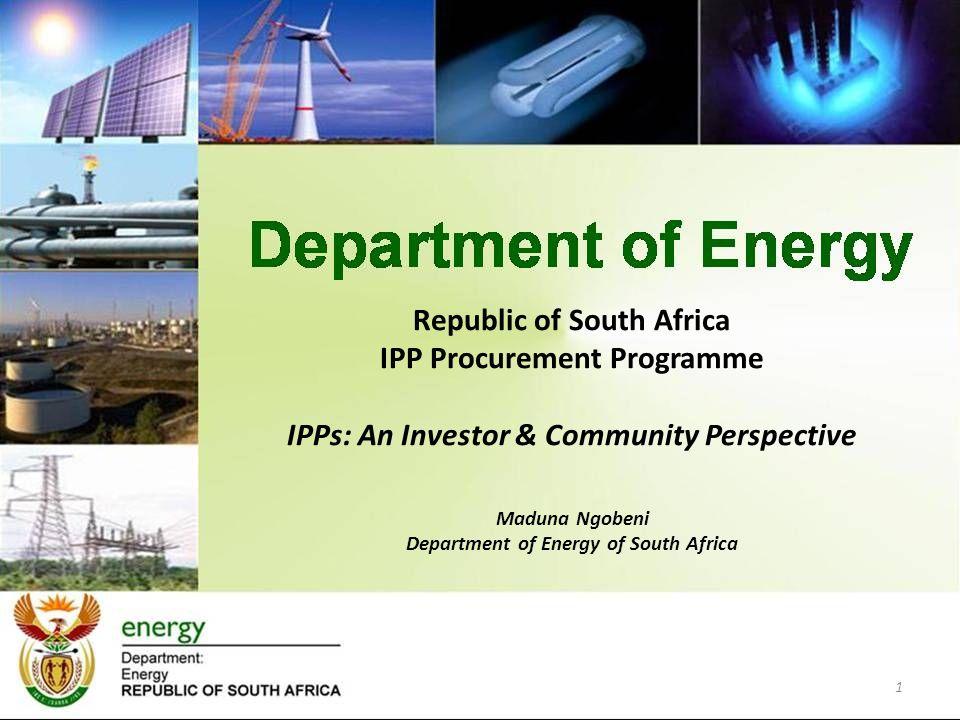 Republic of South Africa IPP Procurement Programme