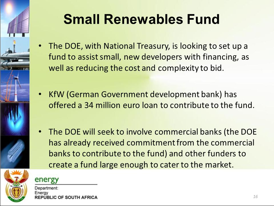 Small Renewables Fund