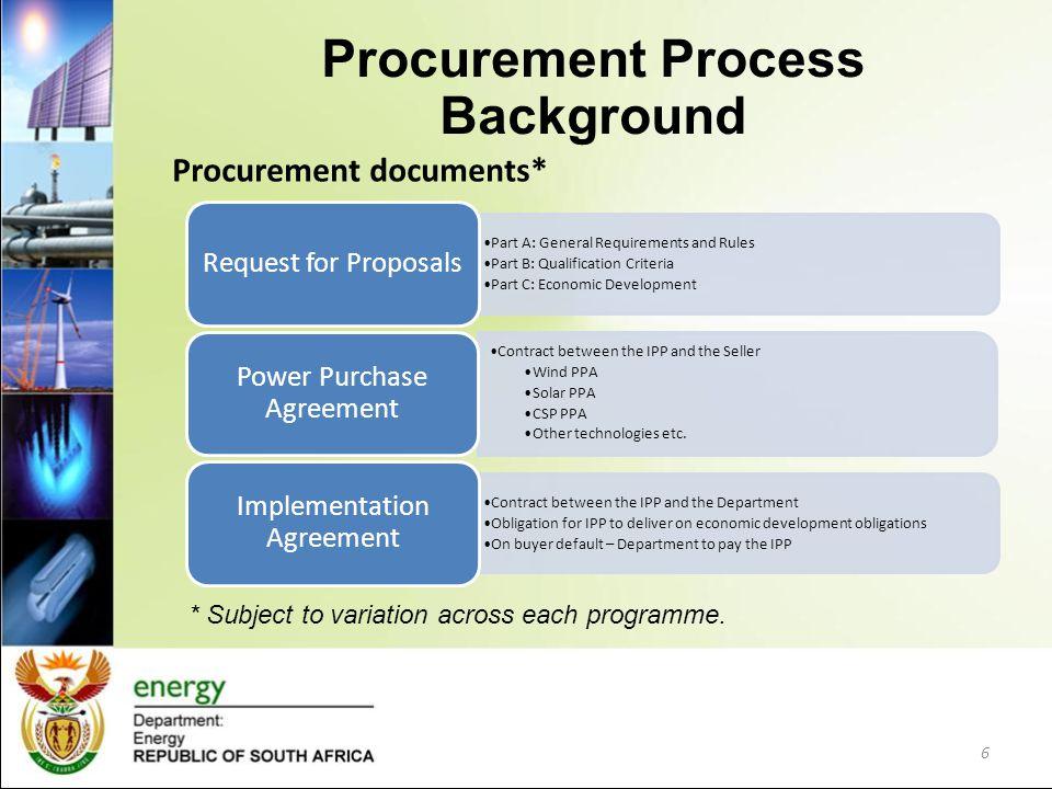 Procurement Process Background