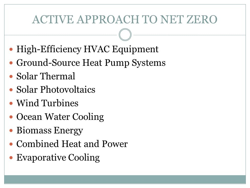 ACTIVE APPROACH TO NET ZERO