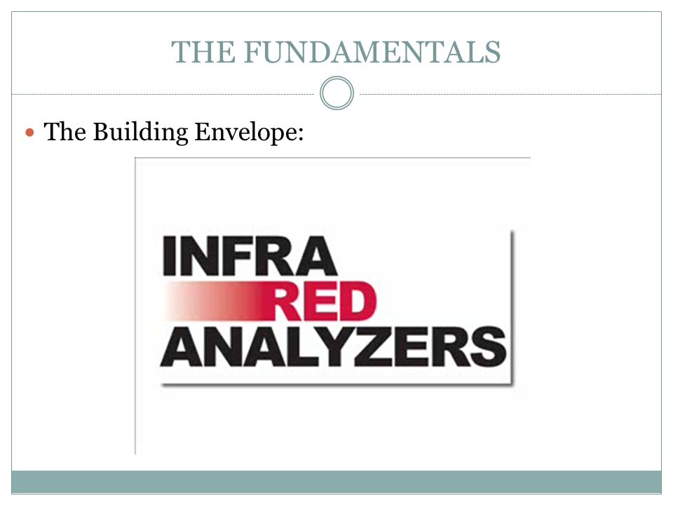 THE FUNDAMENTALS The Building Envelope: