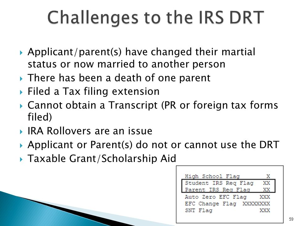 Challenges to the IRS DRT