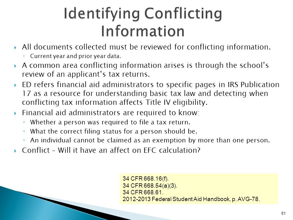 Identifying Conflicting Information