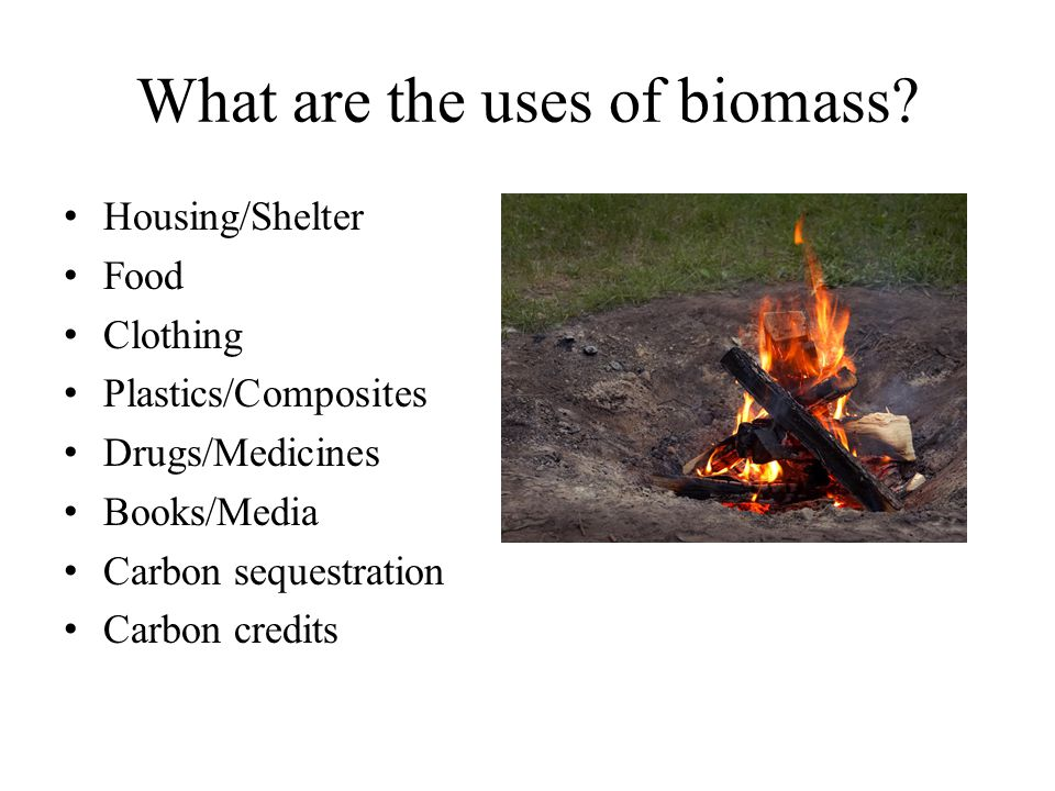 What are the uses of biomass