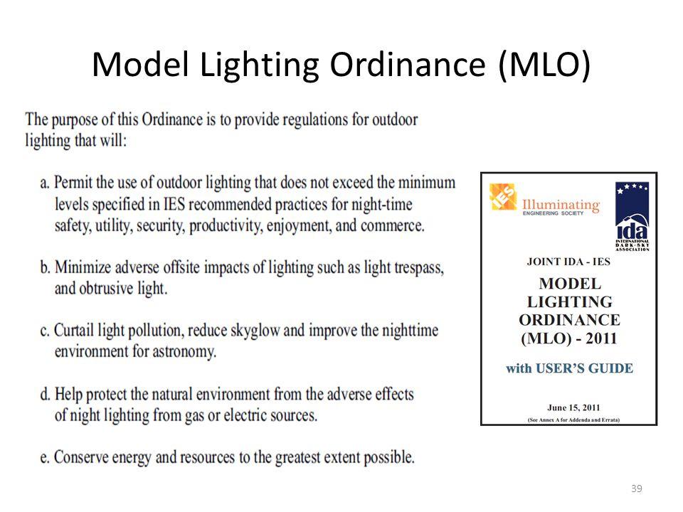 Model Lighting Ordinance (MLO)