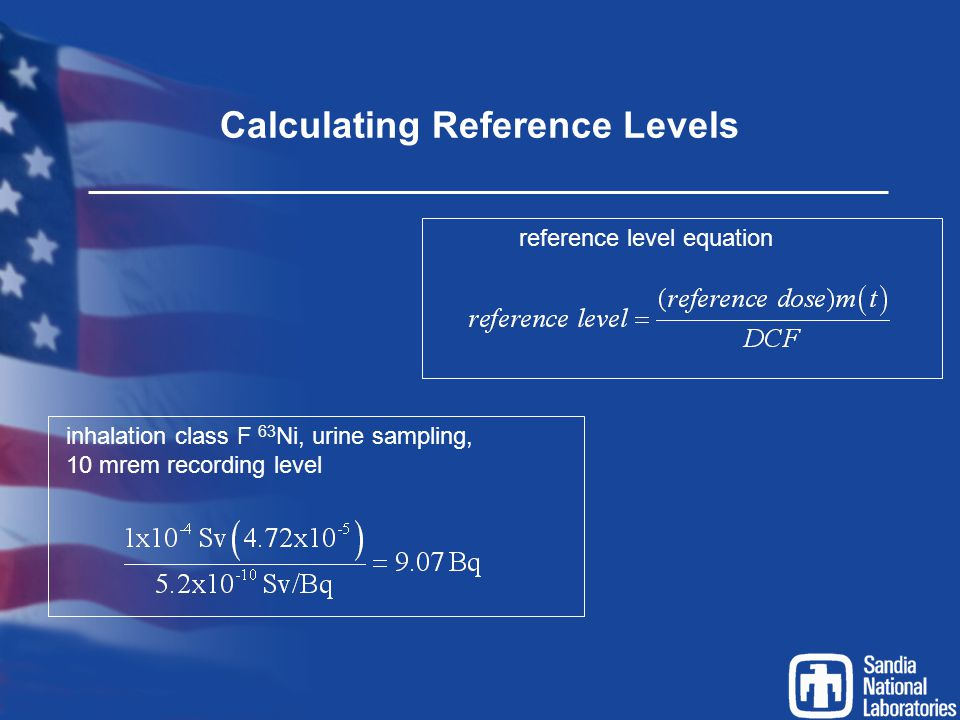 Calculating Reference Levels