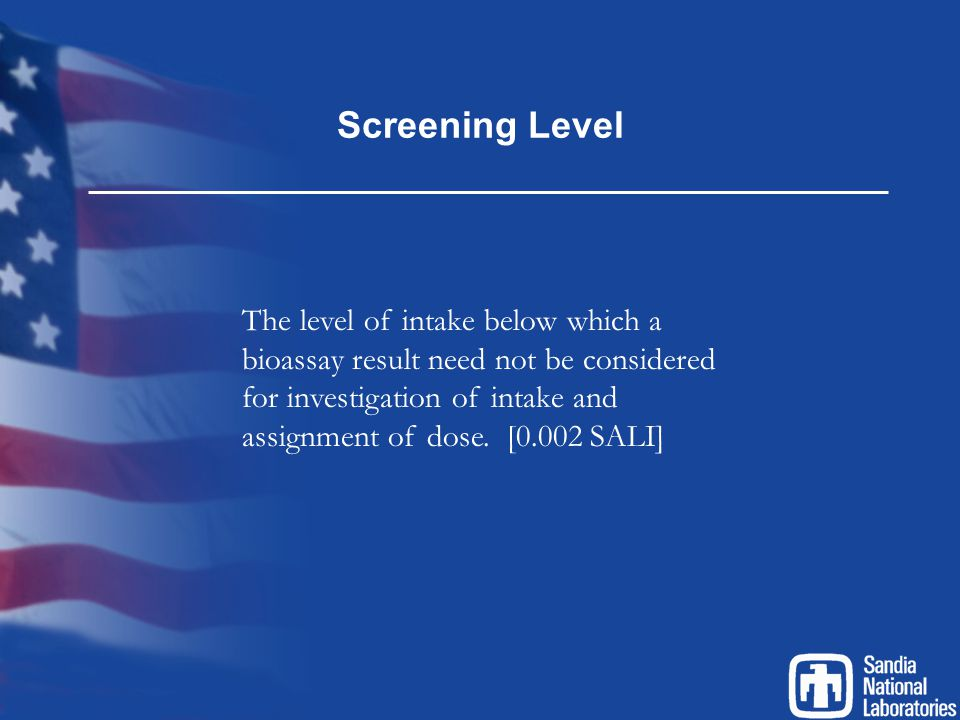 Screening Level