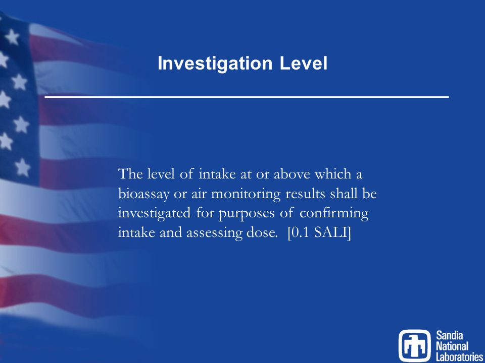 Investigation Level