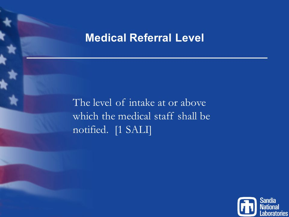 Medical Referral Level