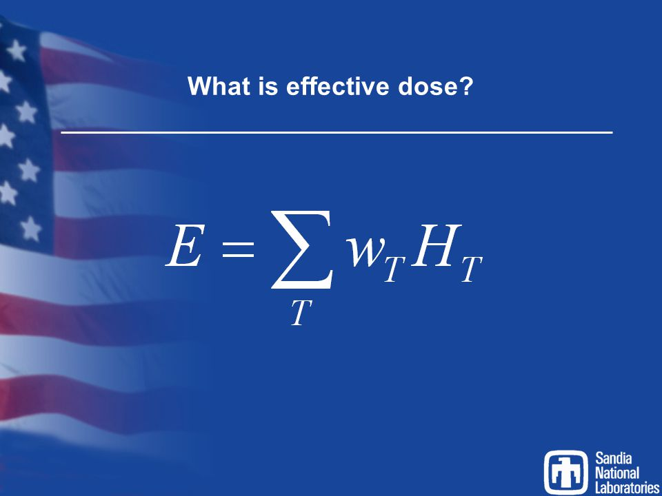 What is effective dose