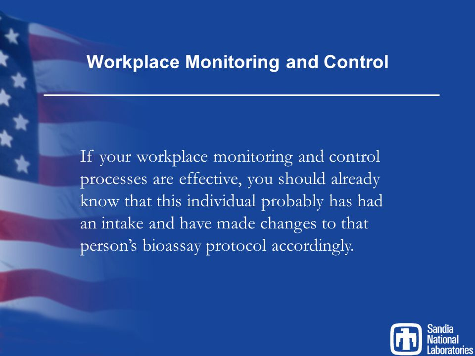 Workplace Monitoring and Control