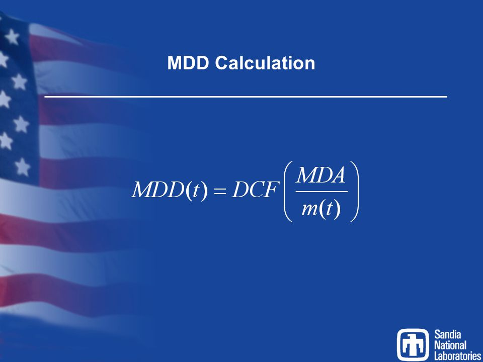 MDD Calculation