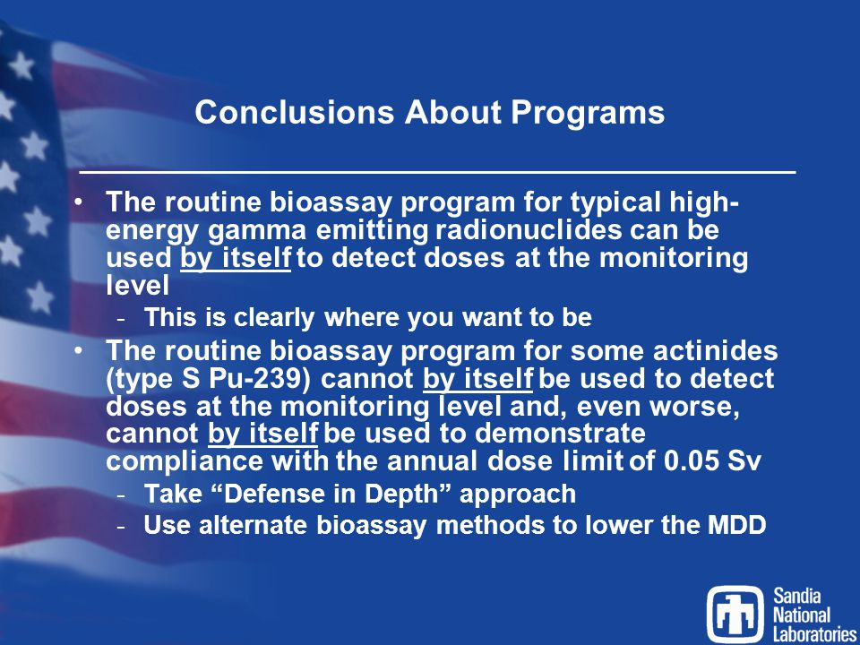 Conclusions About Programs