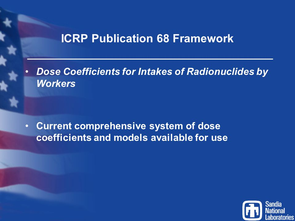 ICRP Publication 68 Framework
