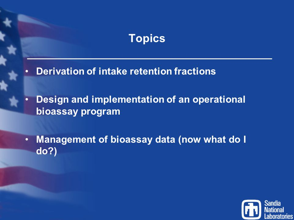 Topics Derivation of intake retention fractions