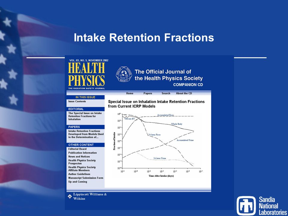 Intake Retention Fractions