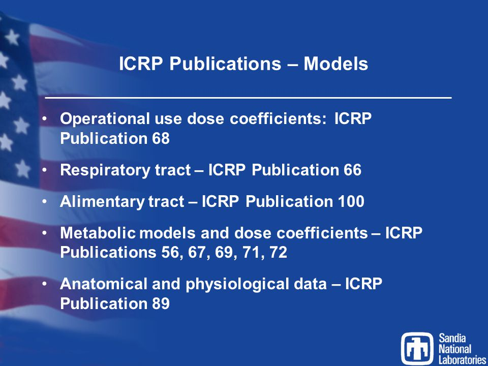 ICRP Publications – Models