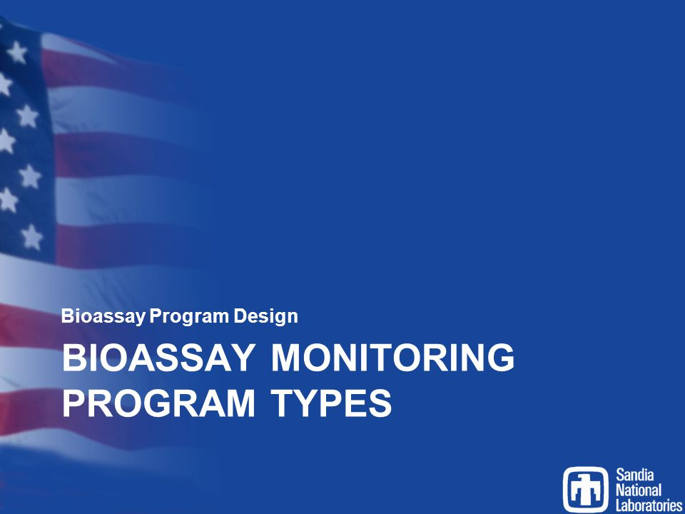 Bioassay monitoring program types
