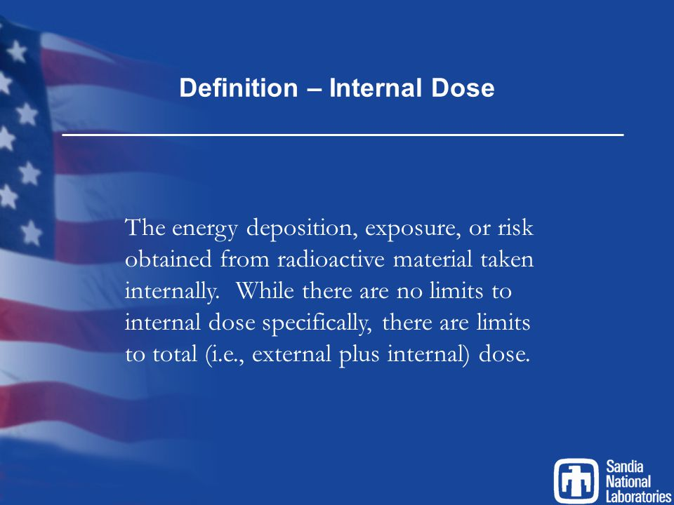 Definition – Internal Dose