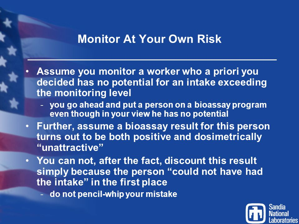 Monitor At Your Own Risk