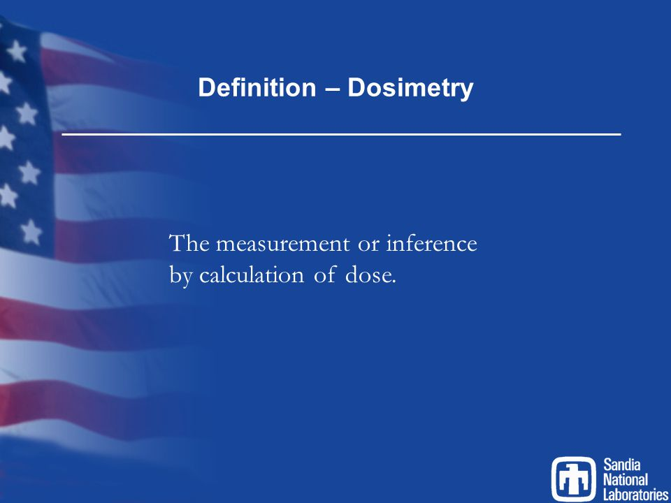 Definition – Dosimetry