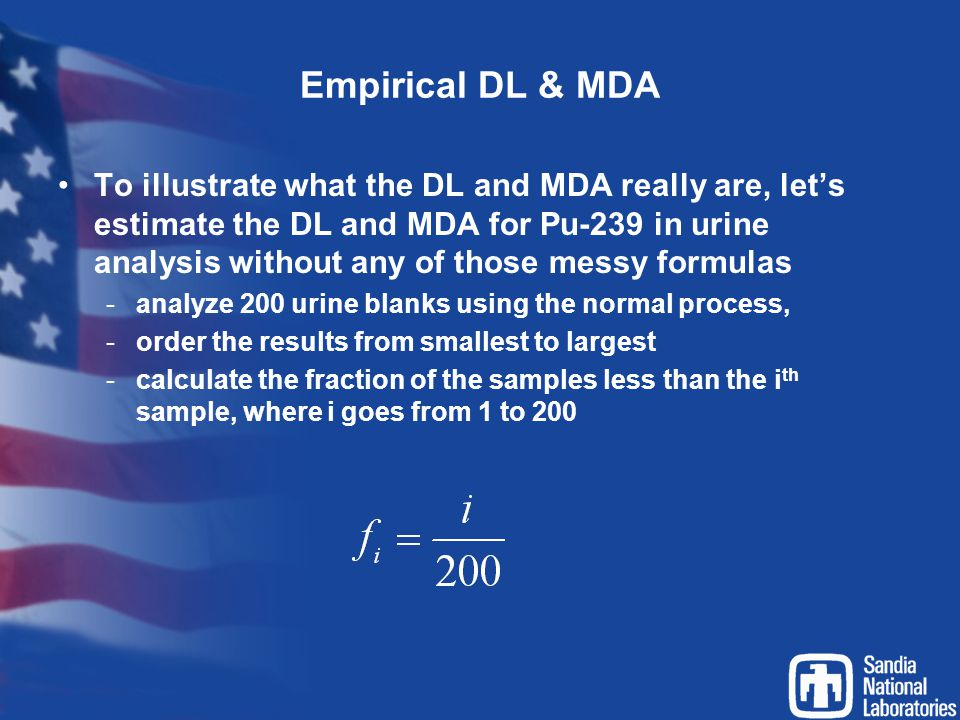 Empirical DL & MDA