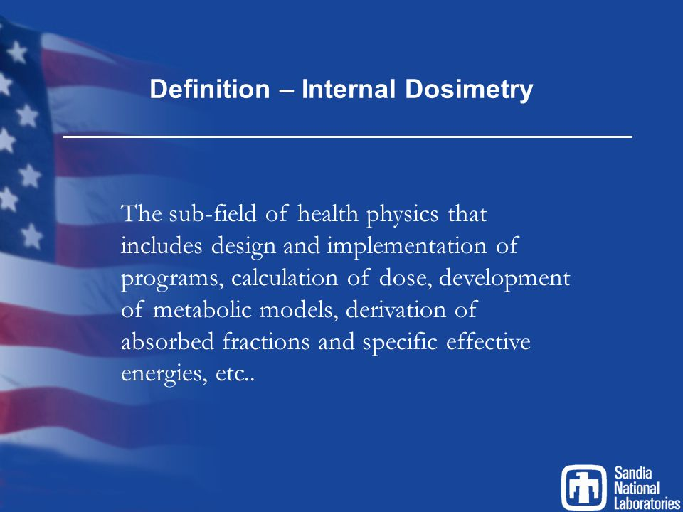 Definition – Internal Dosimetry