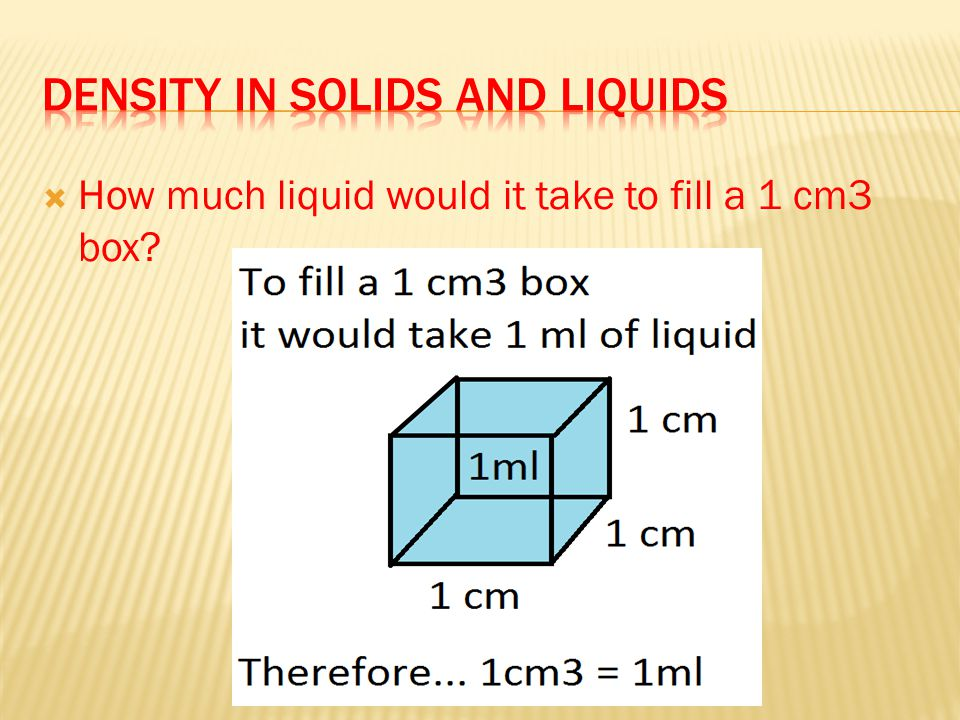 Density in solids and liquids