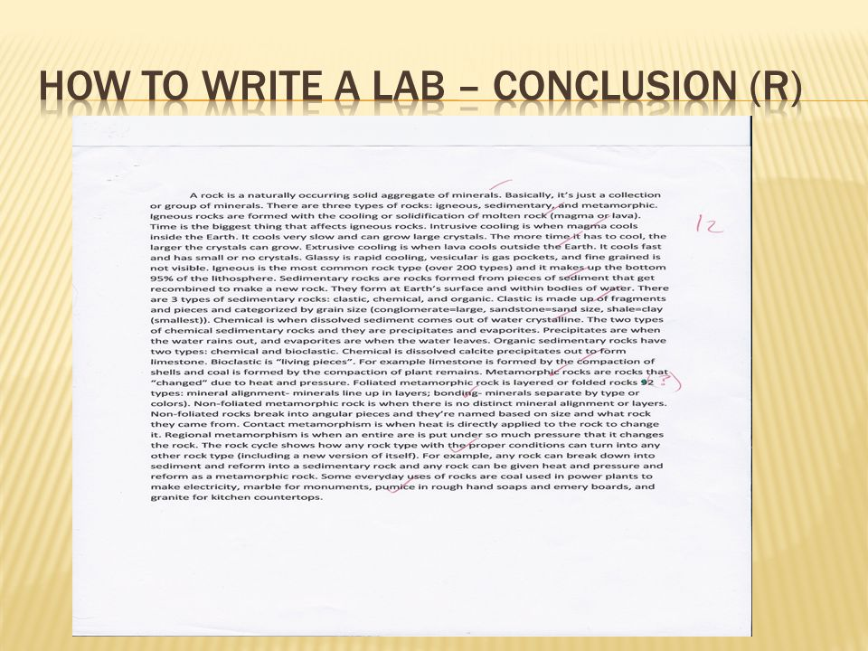 How to write a lab – conclusion (R)