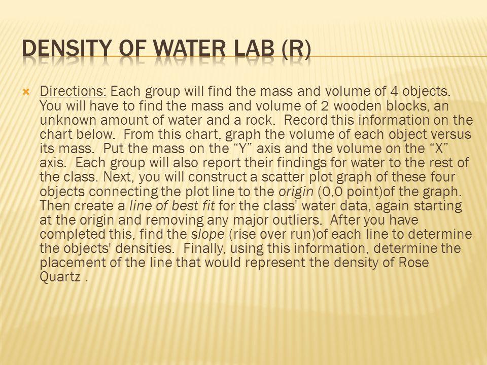 Density of Water lab (R)
