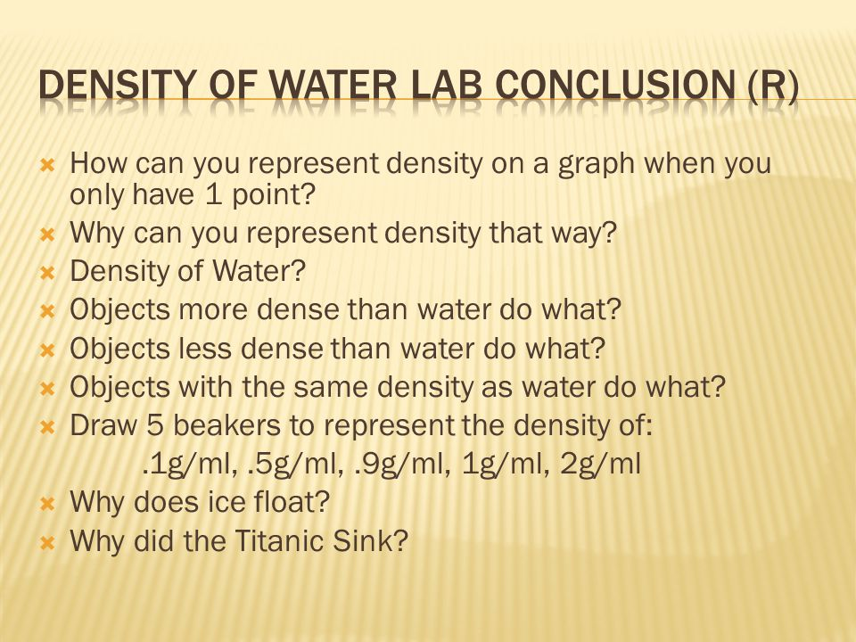 Density of Water LAB conclusion (R)