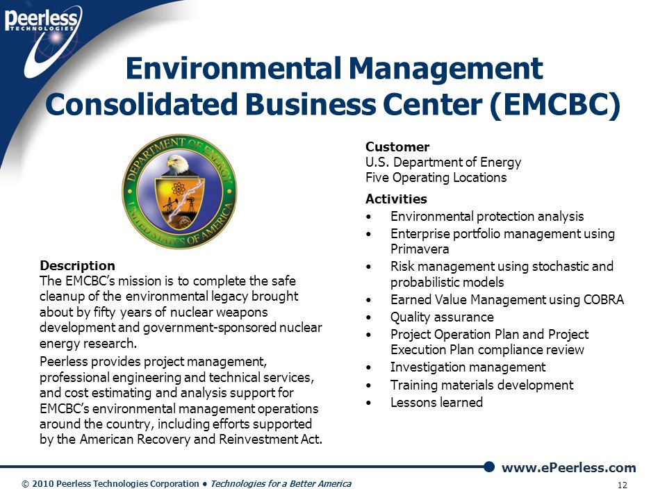 Environmental Management Consolidated Business Center (EMCBC)