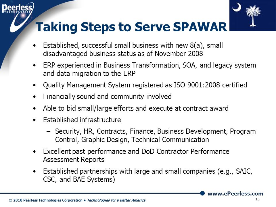 Taking Steps to Serve SPAWAR