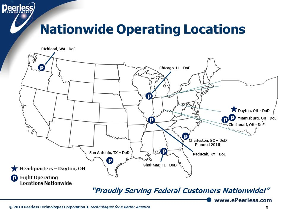Nationwide Operating Locations