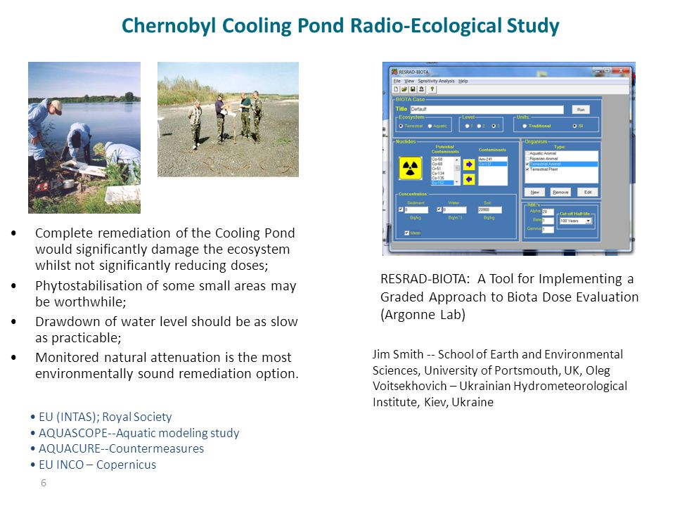 Chernobyl Cooling Pond Radio-Ecological Study