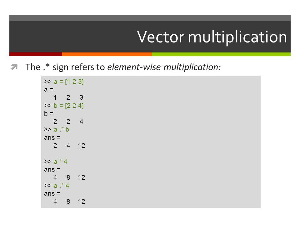 Vector multiplication