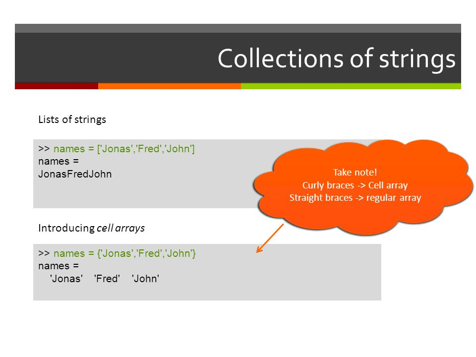 Collections of strings