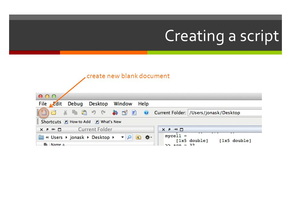 Creating a script create new blank document