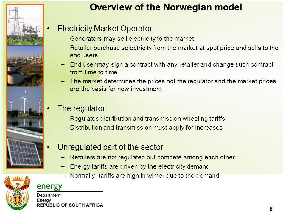 Overview of the Norwegian model