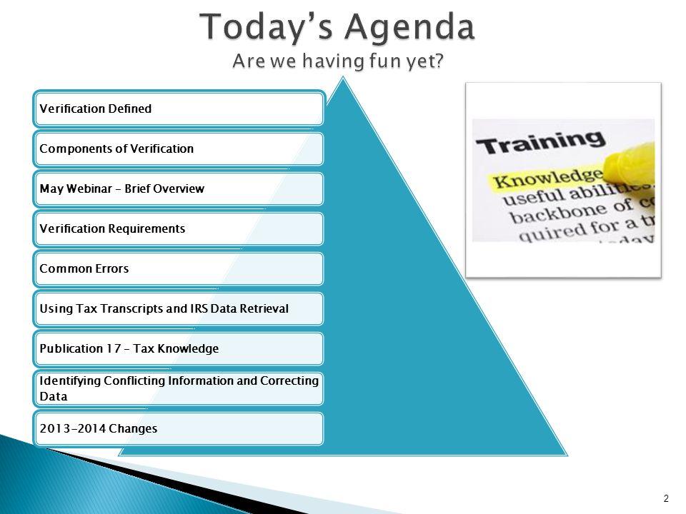 Today's Agenda Are we having fun yet