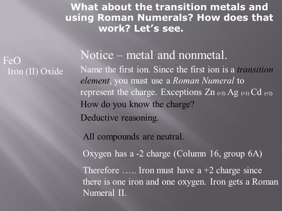Notice – metal and nonmetal.