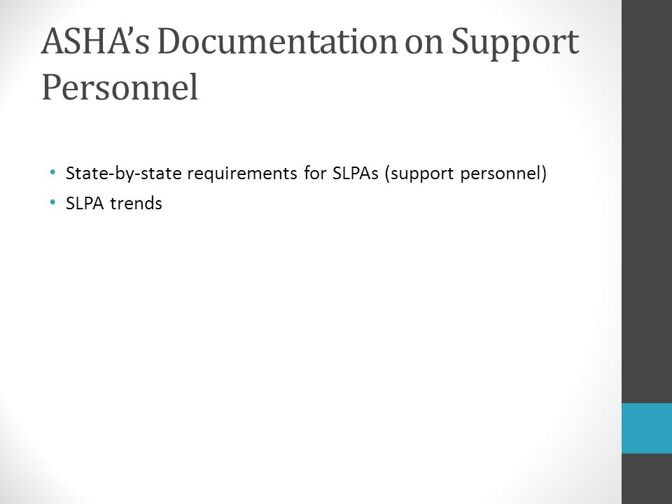 ASHA's Documentation on Support Personnel