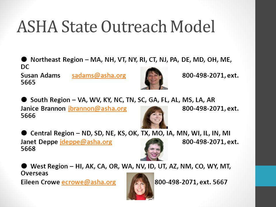 ASHA State Outreach Model