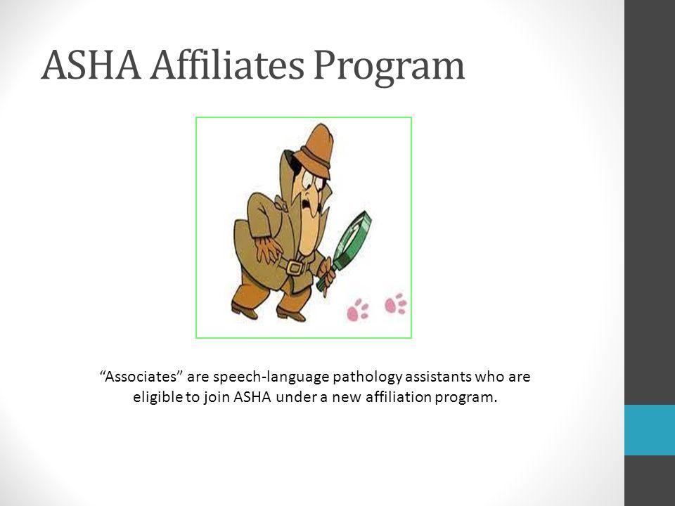 ASHA Affiliates Program