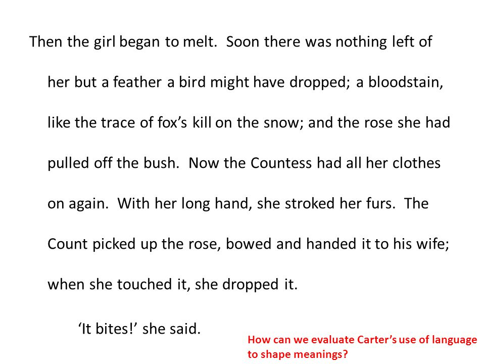 Then the girl began to melt