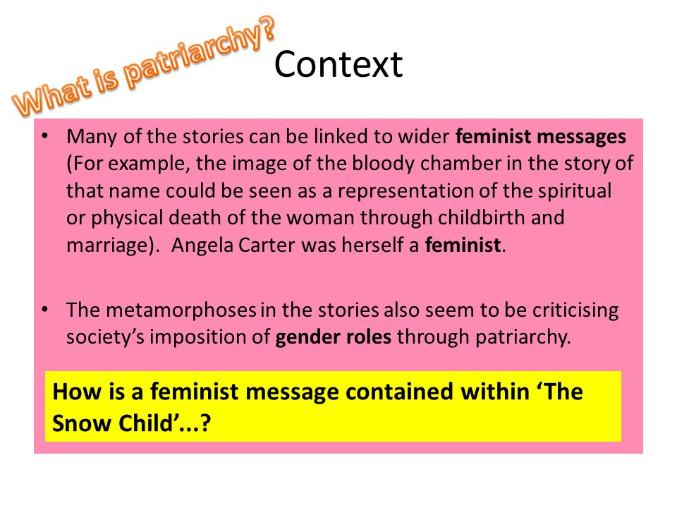 Context What is patriarchy