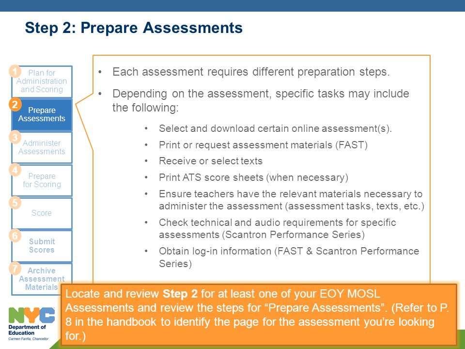 Step 2: Prepare Assessments