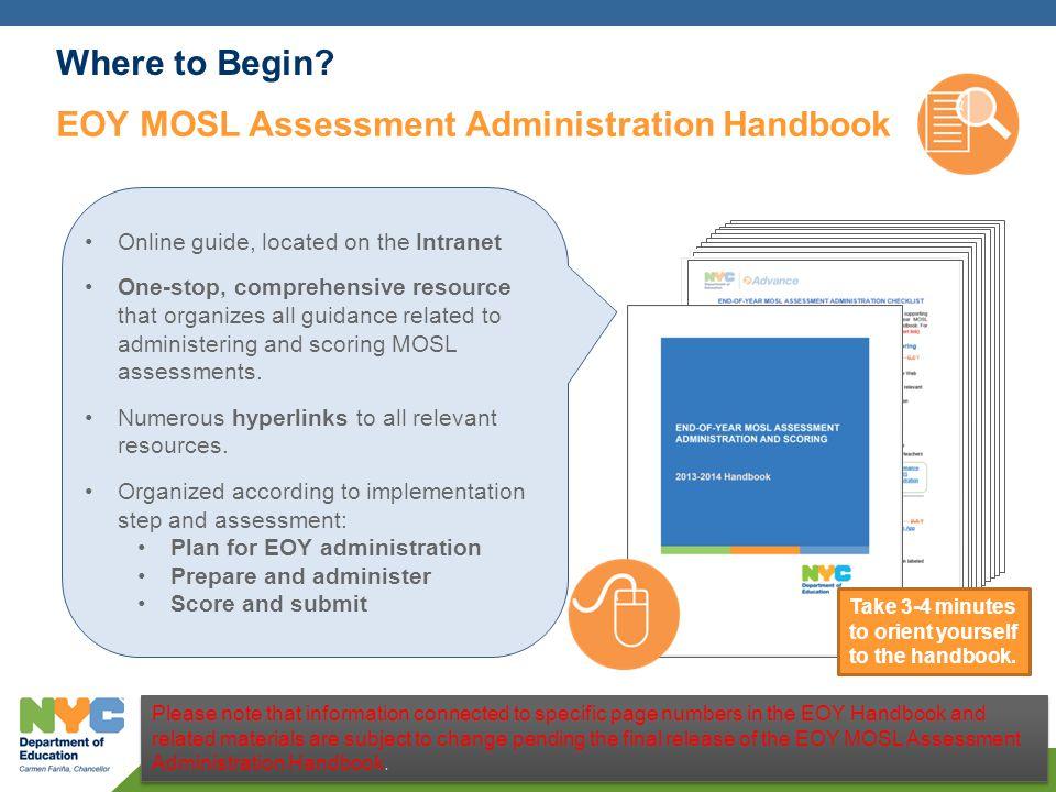 EOY MOSL Assessment Administration Handbook