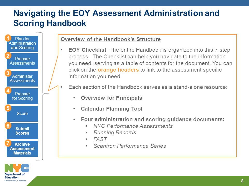 Navigating the EOY Assessment Administration and Scoring Handbook